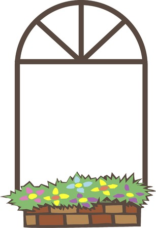 Windowsill of frame