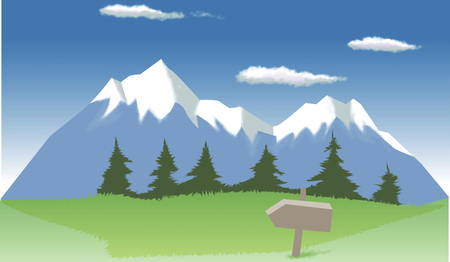 Summer Mountain Banco de Imagens - 46833625