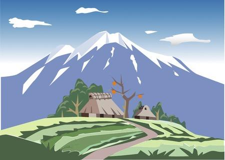 thatched: Satoyama