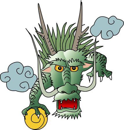 frontal: Dragon half-length frontal