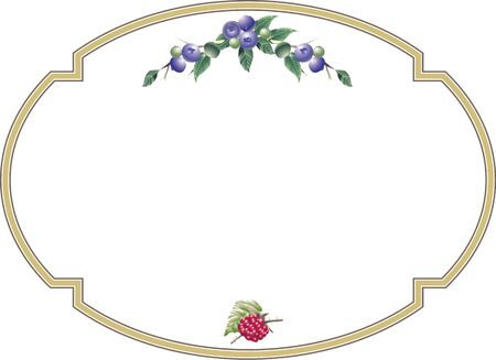 Blueberry and raspberry of decorative frame