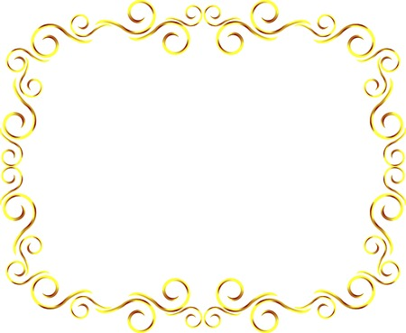 metal frame: Arabesque horizontal metal frame Stock Photo