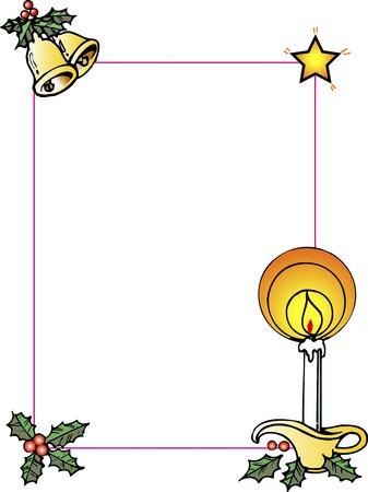 christmas candle: Christmas frame