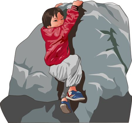 cliff: Cliff climbing Stock Photo