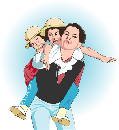 piggyback: Piggyback ride