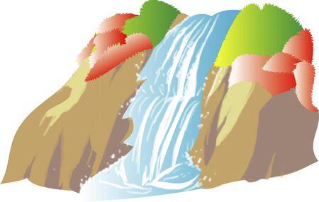 mountain stream: Waterfall