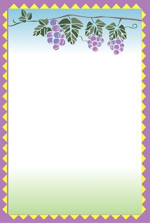 decorative frame: Decorative frame of grapes