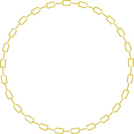 円形チェーンの装飾的なフレーム 写真素材