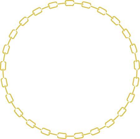 circular chain: Decorative frame of circular chain Stock Photo