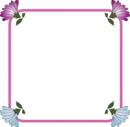 菊正方形飾りフレーム