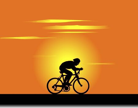 evening: Cyclist of the evening