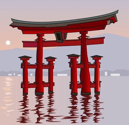 shrine: Itsukushima shrine Otorii