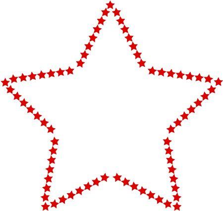 decorative frame: Decorative frame of the star star Stock Photo