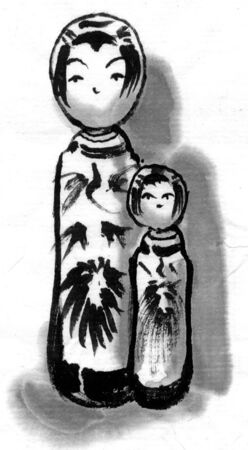 limbless: Kokeshi dolls Stock Photo