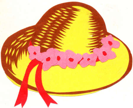 straw hat: Floral decoration of straw hat