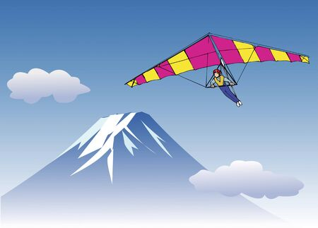 paragliding: Fuji and paragliding