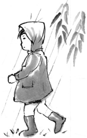 early summer: Raincoat Stock Photo