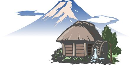 watermill: Fuji and watermill