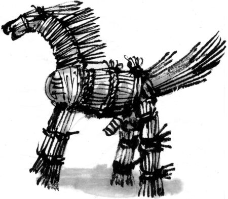 straw: Straw horse