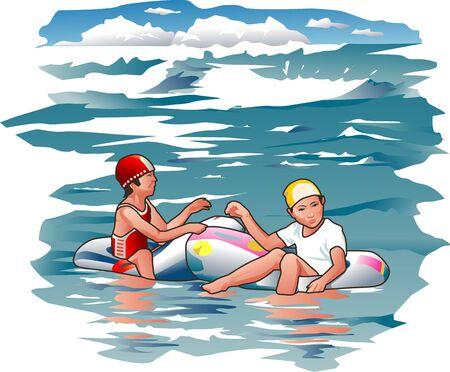 dinghy: Rubber dinghy