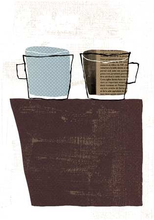 Antique mug cup Stok Fotoğraf
