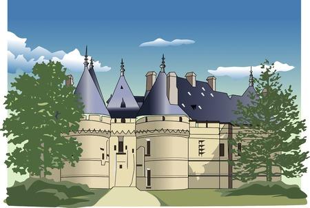 chateau: Chateau de Chaumont Stock Photo