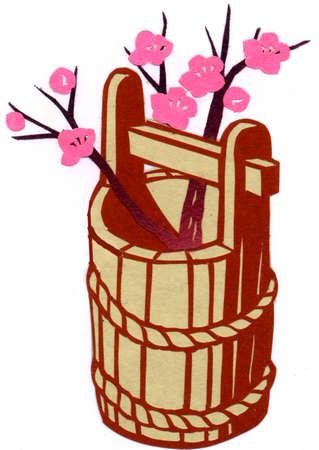 pail: Pail of plum Stock Photo