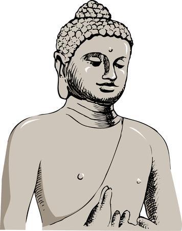buddha statue: Borobudouru Buddha statue Stock Photo