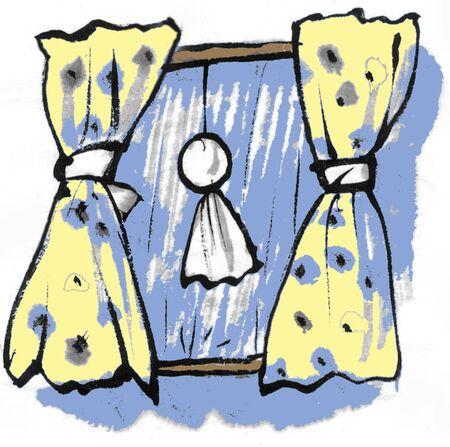 rain window: Cloth