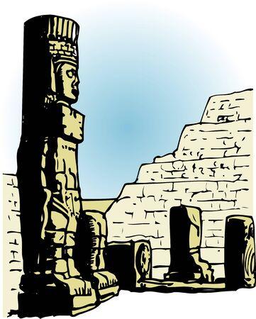 world heritage: Warrior stone statue