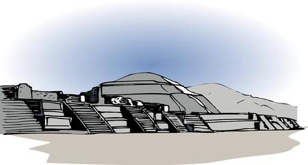 remains: Teotihuacan ruins Stock Photo