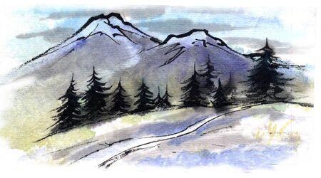 Summer Mountain 版權商用圖片