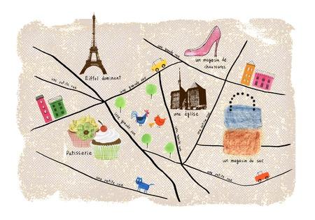 パリのショッピング マップ