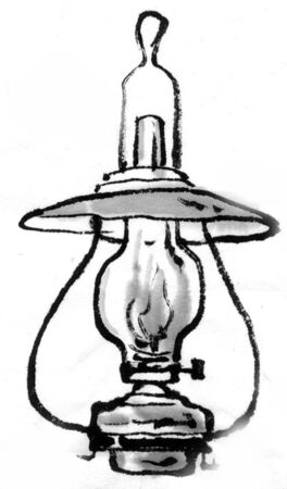 ink and wash: Lamp