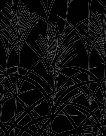 Japanese pampas grass pattern