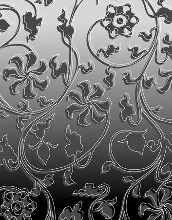 arabesque pattern: Arabesque pattern