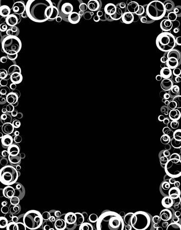 na: The world pattern frame Stock Photo