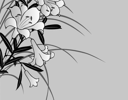 lilium: Japanese pattern Stock Photo