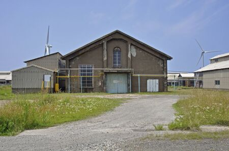 early summer: Early summer of the Sakata-old warehouse Stock Photo
