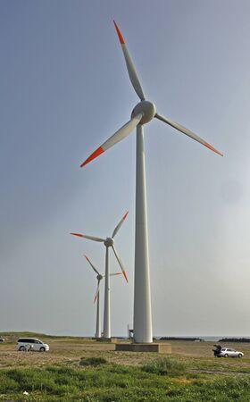 early summer: Wind power generation of the early summer of Sakata-Miyaura coast