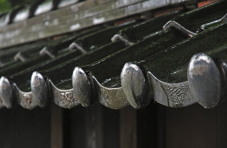 residence: Former Kazama Family Residence Heisaru-do of rain Stock Photo