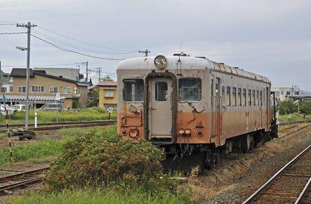 premises: Kiha 22 form of premises Railway Tsugaru Railway Tsugaru Goshogawara Station Stock Photo