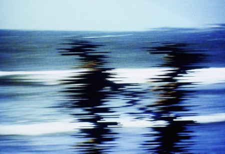 jamming: Seaside scene in the Jaminku been TV screen