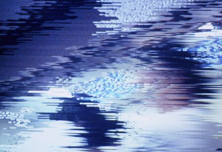 jamming: Woman dressed in white clothes in Jaminku been TV screen