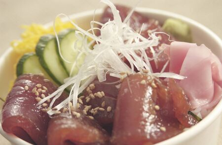 association: Association bowl of tuna for take-out