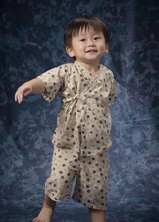 frolic: 2-year-olds to frolic wearing Jinbei