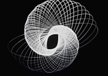 trajectory: Trajectory of light to draw a beautiful three-dimensional curve Stock Photo