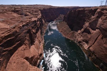 colorado river: Overlooking the Colorado River from the Grand Canyon Bridge