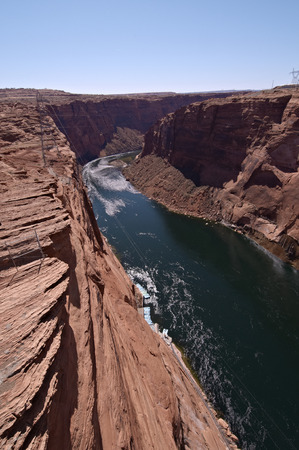 rive: Overlooking the Colorado River from the Grand Canyon Bridge