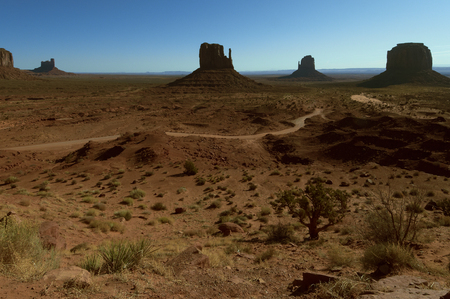 horizontal position: Morning of Monument Valley horizontal position landscape